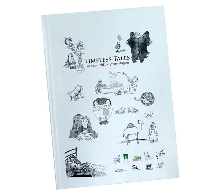 Alla som besöker föreställningen får antologin Timeless Tales, 21 syriska folksagor berättade av syriska flyktingar. På arabiska och engelska.